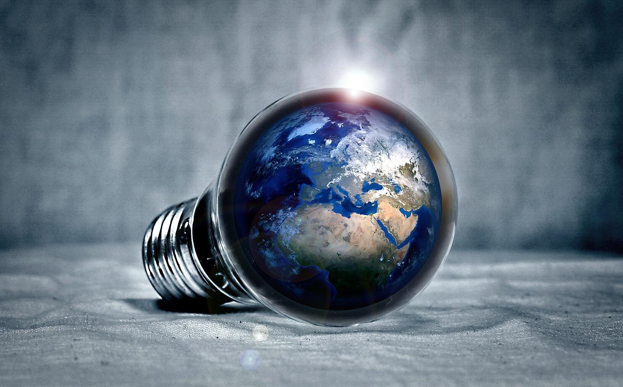 Ampoule qui contient Terre
